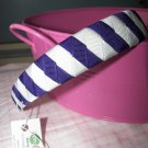 B15- White and Purple Woven Headband