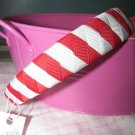 B49- Red/White Woven Headband