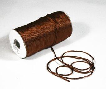 "1/8"" Brown Satin Rat Tail Cord - 200 yds"