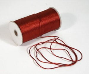 "1/8"" Burgundy Satin Rat Tail Cord - 200 yds"