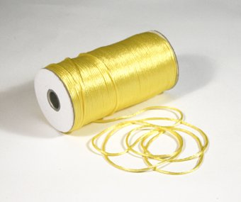 """1/8"""" Canary Satin Rat Tail Cord - 200 yds"""