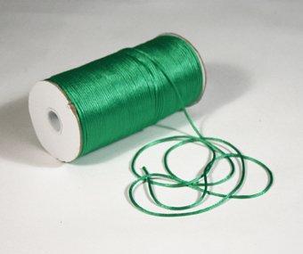 "1/8"" Emerald Satin Rat Tail Cord - 200 yds"