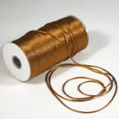 "1/8"" Gold Satin Rat Tail Cord - 200 yds"