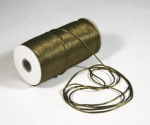 "1/8"" Olive Satin Rat Tail Cord - 200 yds"