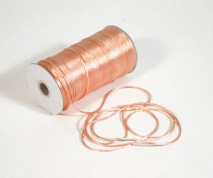 "1/8"" Peach Satin Rat Tail Cord - 200 yds"