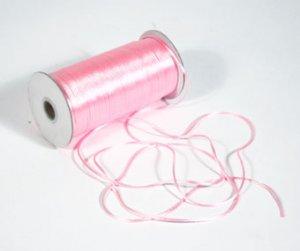 "1/8"" Pink Satin Rat Tail Cord - 200 yds"