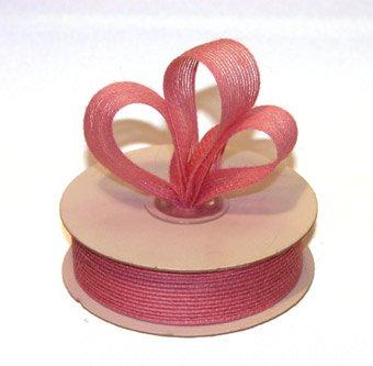 "7/8"" Pink Jute Burlap Ribbon - 10 yds"