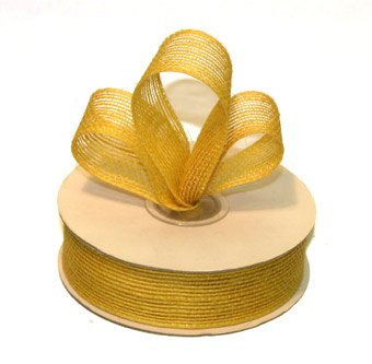 "1-1/2"" Canary Jute Burlap Ribbon - 10 yds"