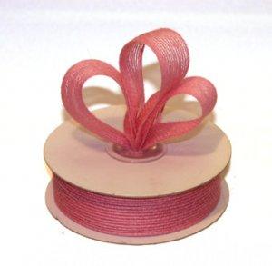 "1-1/2"" Pink Jute Burlap Ribbon - 10 yds"