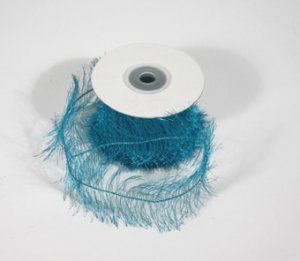 "1-1/2"" Blue Wired Eyelash Ribbon - 10 yds"
