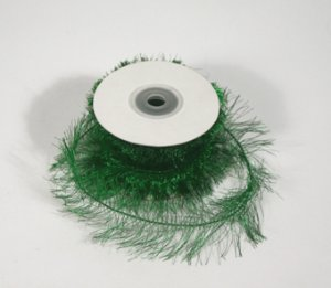 "1-1/2"" Emerald Wired Eyelash Ribbon - 10 yds"