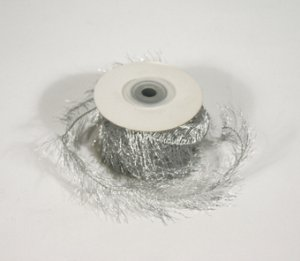 "1-1/2"" Silver Wired Eyelash Ribbon - 10 yds"