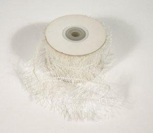 "1-1/2"" White Wired Eyelash Ribbon - 10 yds"
