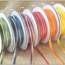 "1/8"" Orange-Ivory Polyester Satin Ombre Ribbon - 50 yds"