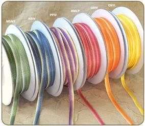 "1/8"" Purple-Ivory Polyester Satin Ombre Ribbon - 50 yds"