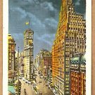 TIMES SQUARE & PARAMOUNT BUILDING NEW YORK ca 1940s POSTCARD