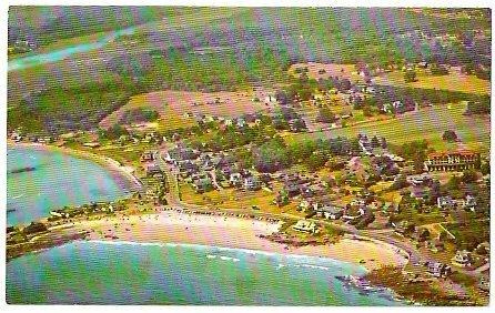 BIRDS EYE VIEW KENNEBUNK BEACH MAINE 1960s POSTCARD