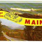 GREETINGS FROM MAINE ca 1960 POSTCARD