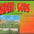 GARDEN OF THE GODS COLORADO SPRINGS 1950 SOUVENIR POSTCARD FOLDER