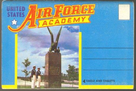 U.S. AIR FORCE ACADEMY USAF 1960 SOUVENIR PHOTO FOLDER POSTCARD