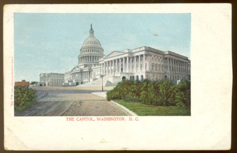 Ca 1900 CAPITOL BUILDING WASHINGTON DC UNDIVIDED BACK UDB POSTCARD