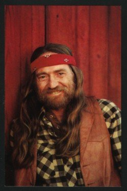 WILLIE NELSON 1981 CORAL-LEE POST CARD POSTCARD