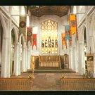 INTERIOR VU PARISH CHURCH THAXTED ENGLAND UK UNITED KINGDOM POSTCARD