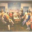VIRGINIA BURGESSES MEET AT RALEIGH TAVERN WILLIAMSBURG POSTCARD 575