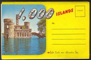 1000 ISLANDS NEW YORK 1950s SOUVENIR POSTCARD FOLDER