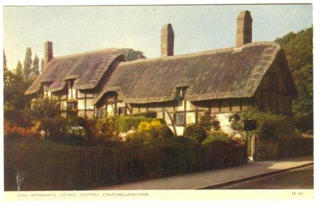 Anne Hathaway Cottage Shottery Stratford Upon Avon United Kingdom Chrome Postcard 229 UK