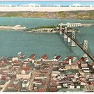 1940s BRIDGE TERMINAL & APPROACH TO SAN FRANCISCO BAY BRIDGE POSTCARD
