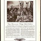 ORIGINAL 1918 WAR BOND AD DEPICTING GERMAN ATROCITIES  + GRAFLEX CAMERA AD