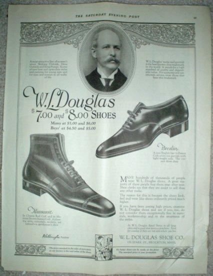 LARGE ORIGINAL 1923 WL DOUGLAS SHOES + SUNBEAM HEAT ADS
