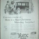 ORIGINAL 1923 REX CAR TOP ENCLOSURE VAN DORN DRILLS ADS