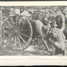 "1918 1ST VIRGINIA FIELD ARTILLERY TRAINING AT CHICKAMAUGA WITH 3"" GUN WW1 MAGAZINE PHOTO"