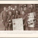 WW1 GEOGRAPHIC PHOTO NINE AMERICAN DOUGHBOYS AT CAMP KEARNY POSING WITH LANGUAGE CHARTS