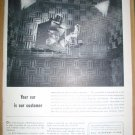 ORIGINAL 1949 BELL TELEPHONE SYSTEM FULL PAGE AD + GE DAYLIGHT TELEVISION & VASELINE HAIR TONIC ADS
