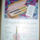 ORIGINAL 1949 PARKER PEN FULL PAGE AD