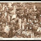 BIRDS EYE VIEW THE PENN ZONE THE HEART OF NEW YORK CITY 1950 POST CARD