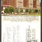 THE BILTMORE HOTEL LOS ANGELES CA CALIFORNIA 1950 ADVERTISING POST CARD