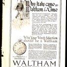 Original 1918 WALTHAM WATCH + SHEAFFERS SELF FILLING FOUNTAIN PEN ADS