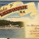 ca 1940 LAKE WINNIPESAUKEE NEW HAMPSHIRE POSTCARD FOLDER