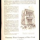 ORIGINAL 1918 AD GUARANTY TRUST COMPANY OF NEW YORK WHITE HOUSE COFFEE NONE BETTER AT ANY PRICE