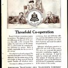 ORIGINAL 1918 AD ATT AMERICAN TELEPHONE & TELEGRAPH BELL SYSTEM LONG DISTANCE TELEPHONE