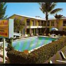 1960 POST CARD SUNSET MOTEL APARTMENTS POMPANO BEACH FLORIDA