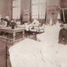 1918 GEOGRAPHIC PHOTO OF WOUNDED WW1 VETERANS IN HOSPITAL WARD WORLD WAR 1