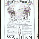 1918 WALTHAM WATCH AD THE WORLD'S WATCH OVER TIME