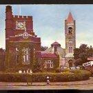 ca 1940/1950 PUBLIC LIBRARY CHURCH TAVERN NASHUA NH AMOCO STATION LINCOLN MERCURY DEALERSHIP