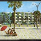 1960s POSTCARD THE 400 MOTEL CLEARWATER BEACH FLORIDA