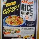 1949 AD RICE KRISPIES + HANES UNDERWEAR